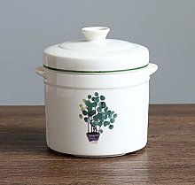 DYB Soup Bowl with Lid Home Stew Pot Ceramic Soup