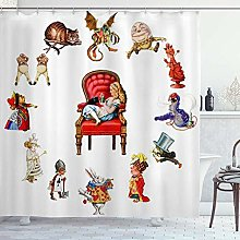 DYCBNESS Shower Curtain,Alice in
