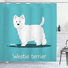 DYCBNESS Shower Curtain,Body Westie Terrier Dog