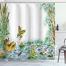 DYCBNESS Shower Curtain,Butterfly Duckling and