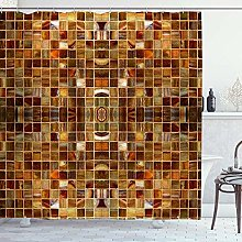 DYCBNESS Shower Curtain,Gold Mosaic