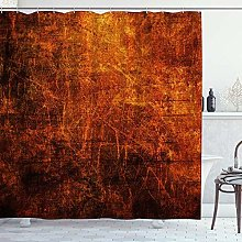 DYCBNESS Shower Curtain,Graffiti Bright Red Orange