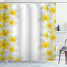 DYCBNESS Shower Curtain,Hawaiian Frangipani