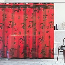 DYCBNESS Shower Curtain,Popular Asian