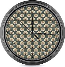DYCBNESS Silent Non Ticking Wall Clock,Beige