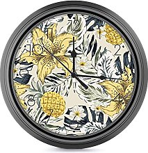 DYCBNESS Silent Non Ticking Wall Clock,Tropical