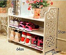 Dyherucvjutij Simple European Shoe Rack Multi-Shoe