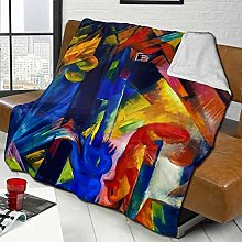 DYJNZK Sofa Bed Blankets Throw Abstract Forest