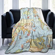 DYJNZK Sofa Bed Blankets Throw Atlas World Map
