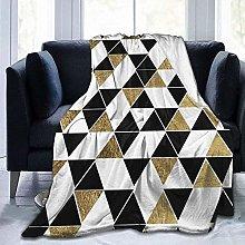 DYJNZK Sofa Bed Blankets Throw Black White Gold