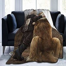 DYJNZK Sofa Bed Blankets Throw Boy With Dog Fleece