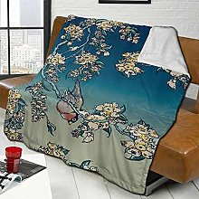 DYJNZK Sofa Bed Blankets Throw Bullfinch And