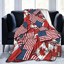 DYJNZK Sofa Bed Blankets Throw Canadian Flag