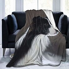 DYJNZK Sofa Bed Blankets Throw Collie Dog Wool