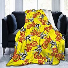 DYJNZK Sofa Bed Blankets Throw Colored Locomotive