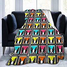 DYJNZK Sofa Bed Blankets Throw Colorful French