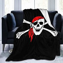 DYJNZK Sofa Bed Blankets Throw Cool Priate Skull