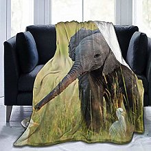 DYJNZK Sofa Bed Blankets Throw Cute Elephants Wool