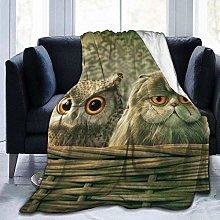 DYJNZK Sofa Bed Blankets Throw Cute Owl Baby Throw