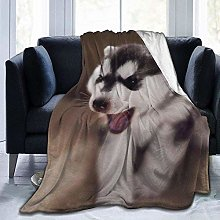 DYJNZK Sofa Bed Blankets Throw Cute Puppy Baby