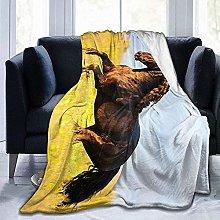 DYJNZK Sofa Bed Blankets Throw Cute Running Horse