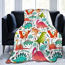 DYJNZK Sofa Bed Blankets Throw Dino Textile Wool