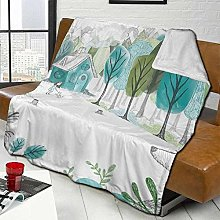 DYJNZK Sofa Bed Blankets Throw Forest Hut With