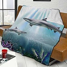 DYJNZK Sofa Bed Blankets Throw Great White Sharkd