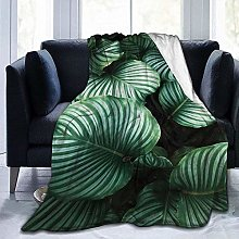 DYJNZK Sofa Bed Blankets Throw Green Tropical