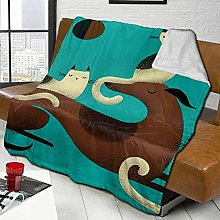 DYJNZK Sofa Bed Blankets Throw Greyhound Perch
