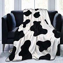 DYJNZK Sofa Bed Blankets Throw Milk Cow Print Wool