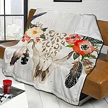 DYJNZK Sofa Bed Blankets Throw Nordic Style Bull