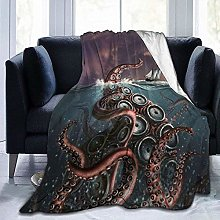 DYJNZK Sofa Bed Blankets Throw Octopus Monster