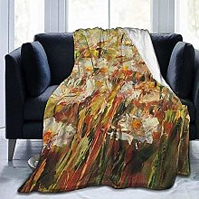 DYJNZK Sofa Bed Blankets Throw Oil Painting White