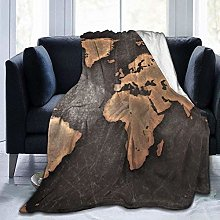 DYJNZK Sofa Bed Blankets Throw Vintage Black World