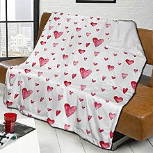 DYJNZK Sofa Bed Blankets Throw Watercolor Print