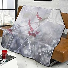 DYJNZK Sofa Bed Blankets Throw Winter Scene Red
