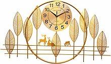 DYJXIGO 34 Inch Non Ticking Wall Clock Home Living