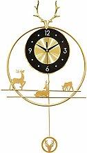 DYJXIGO 3D Art Wall Clock Swinging Deer Head 27