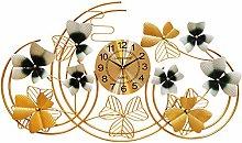 DYJXIGO 40.5 Inch Large Metal Wall Clock for Home,