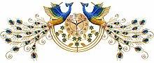 DYJXIGO 61 Large Wall Clock Silent 3D Peacock Wall