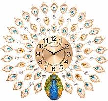 DYJXIGO Exquisite Peacock Wall Clock, Non Ticking