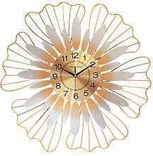 DYJXIGO Sunflower Quartz Wall Clock Silent Modern