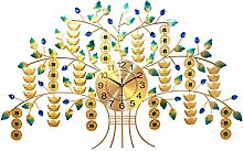 DYJXIGO Wall Clock Sparkling Bling Metallic