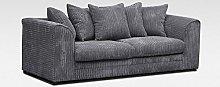 Dylan 3 Seater Sofa Jumbo Cord (Grey)