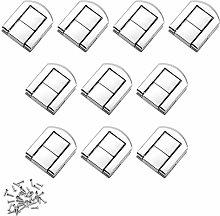 Dylan-EU 10 Set Toggle Catch Lock Silver Box Latch
