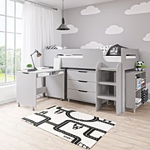 Dynamo Pale Grey Cabin Bed - Ladder Can Be Fitted