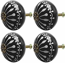 DyniLao 4Pcs Vintage Ceramic Knobs Knob Drawer