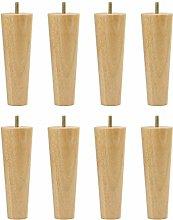 DyniLao 6 Inch Tall Round Rubberwood Cabinet Leg