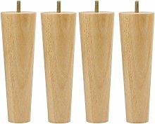 DyniLao 7 Inch Tall Round Rubberwood Cabinet Leg